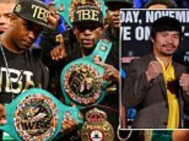 Floyd Mayweather must fight Manny Pacquiao to secure his legacy as The Best Ever